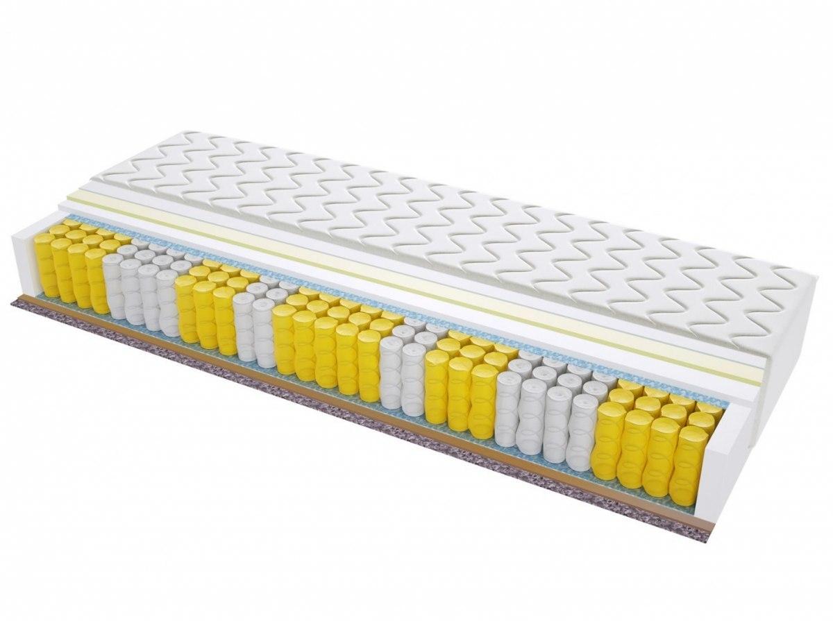 Materac kieszeniowy AMSTERDAM MAX PLUS 70x160 cm Średnio / Bardzo twardy Visco Memory 2x Kokos Końskie Włosie