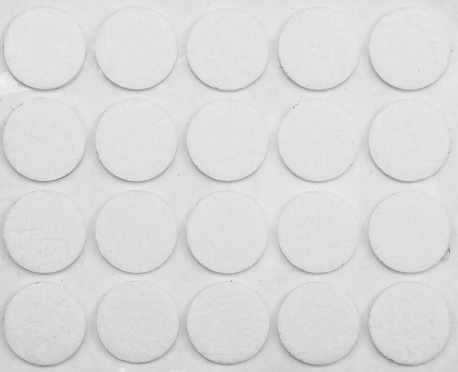 Podkładki filcowe 20 mm białe Vorel 74831 - ZYSKAJ RABAT 30 ZŁ