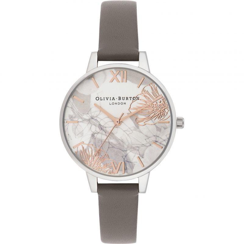 Zegarek damski Olivia Burton Abstract Florals Demi Dial Watch OB16VM32