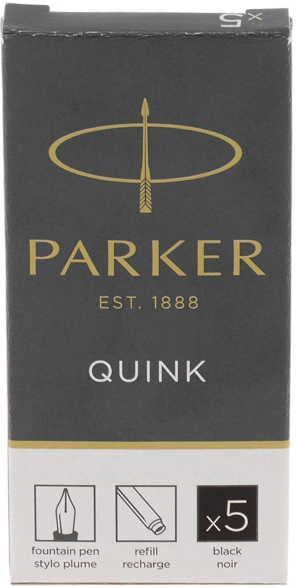 Parker naboje do pióra 5 szt, czarne
