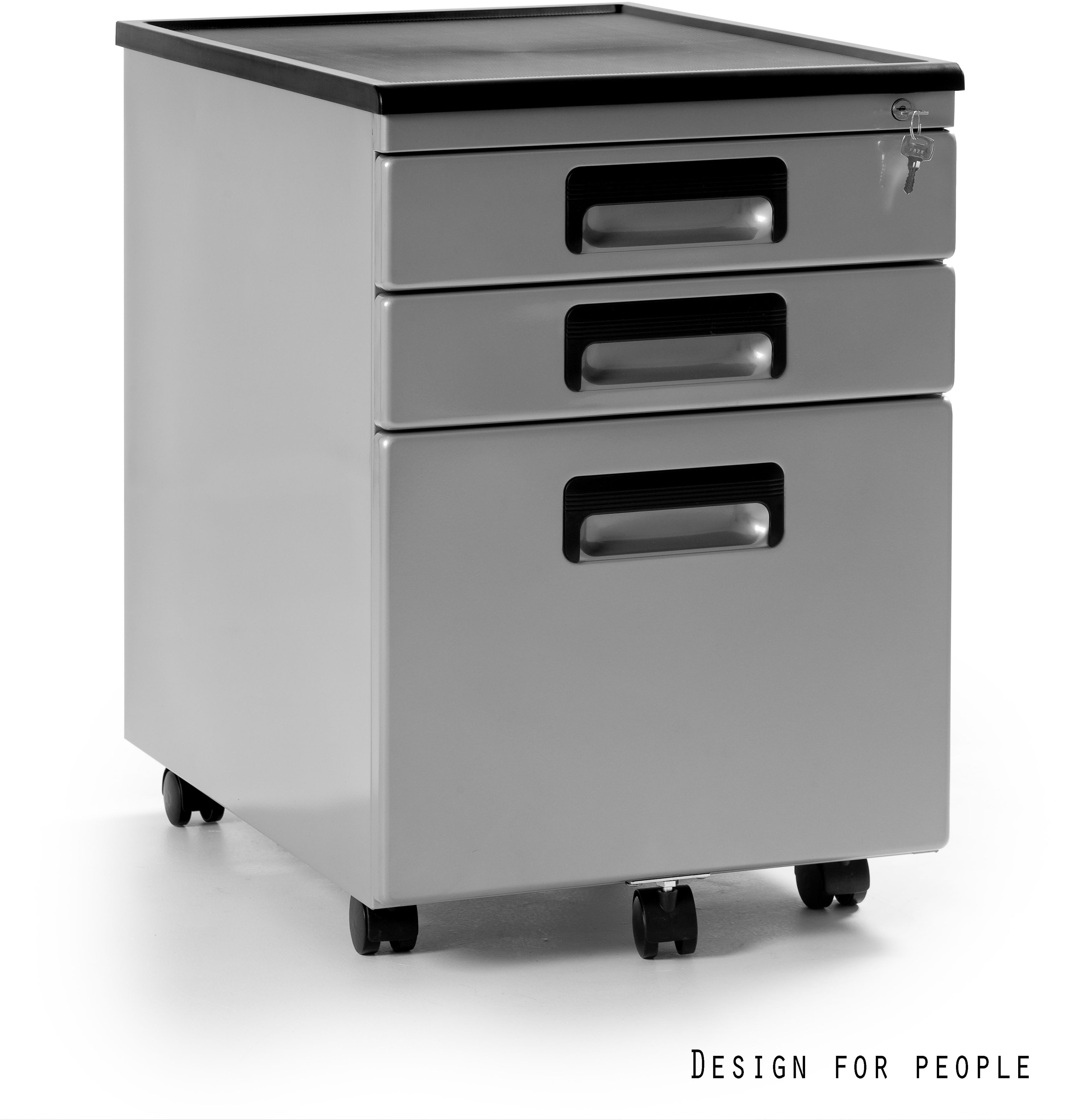 Kontener biurowy 40x56x58 cm 324-S srebrny