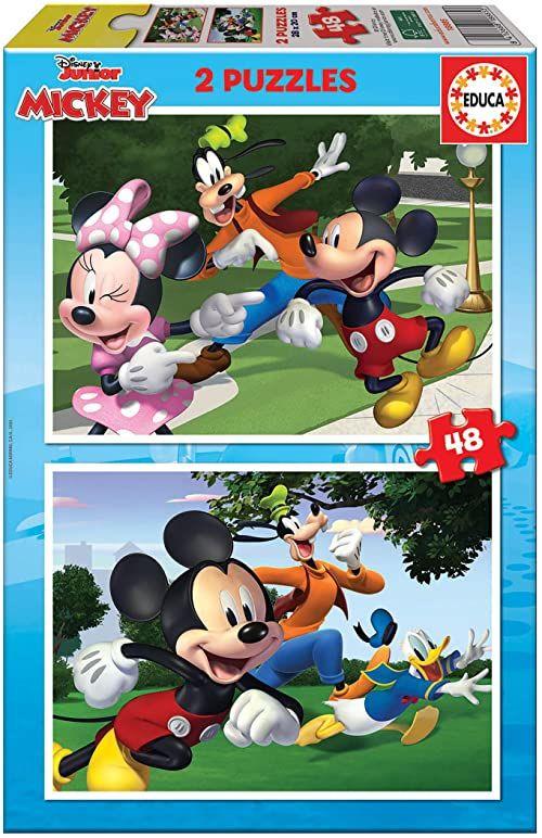 Educa Infantiles de piezas. +4 años. Ref. 18885 Disney Mickey and Friends. 2 puzzle dla dzieci z 48 elementami