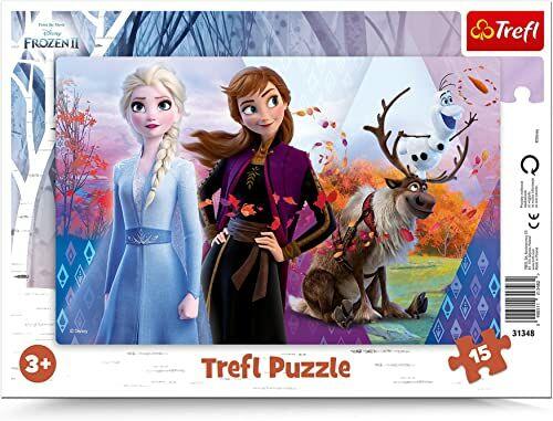 Trefl Magiczny świat Anny i Elsy Puzzle Ramkowe dla Dzieci od 3 lat