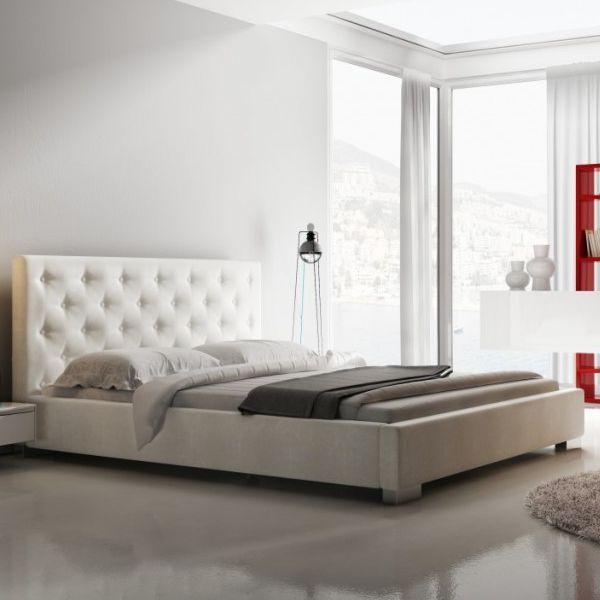 Łóżko LOFT NEW DESIGN tapicerowane, Rozmiar: 160x200, Tkanina: Grupa I, Pojemnik: Bez pojemnika Darmowa dostawa, Wiele produktów dostępnych od ręki!
