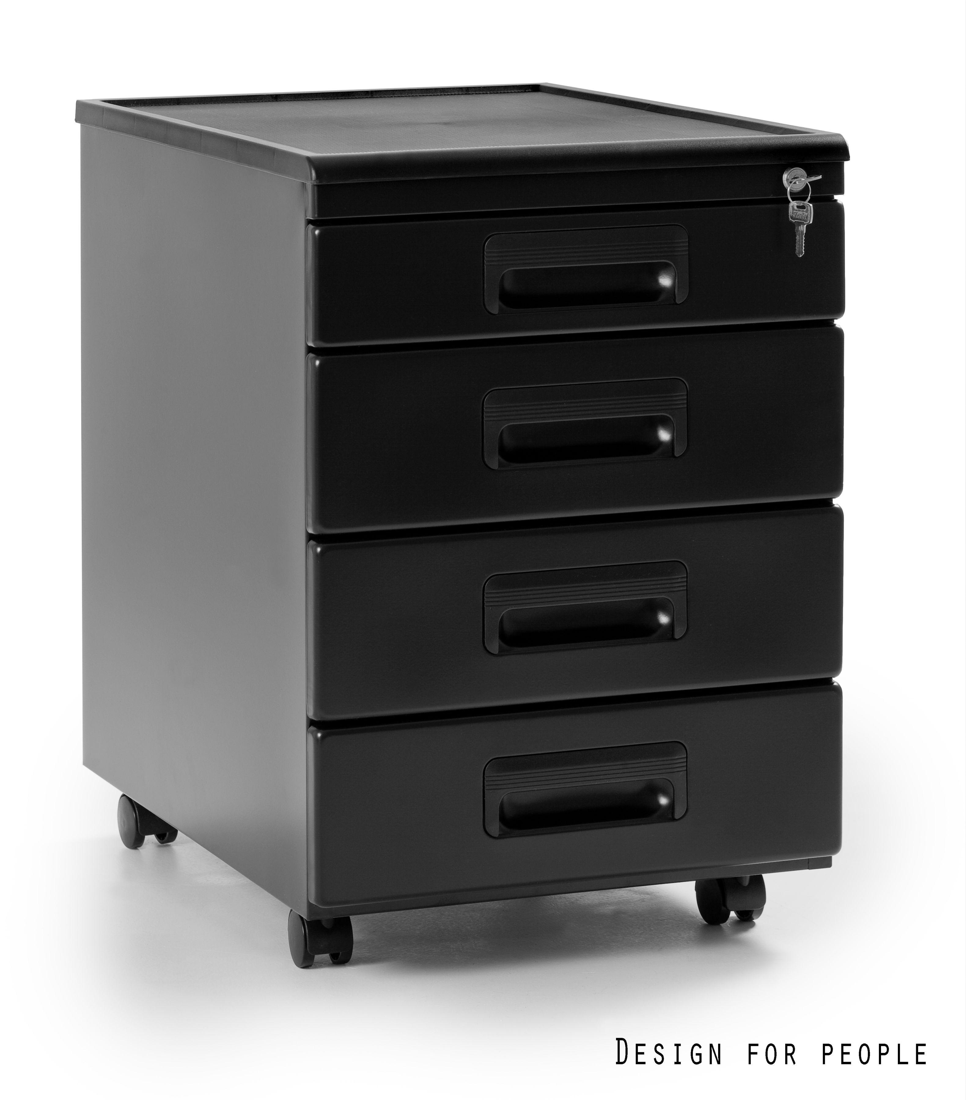 Kontener biurowy 40x56x58 cm 325-B czarny
