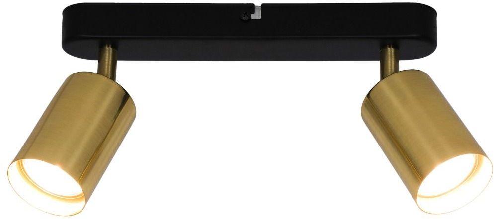 Lampa sufitowa VILA GU13013C-2B GU10 Zuma Line SPOT loft metalowa listwa LED czarna złota