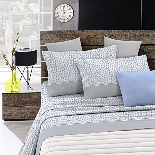 """Italian Bed Linen Zestaw pościeli """"Emotion"""", mozaika, jasnoniebieska, 1-osobowa i 1-osobowa"""