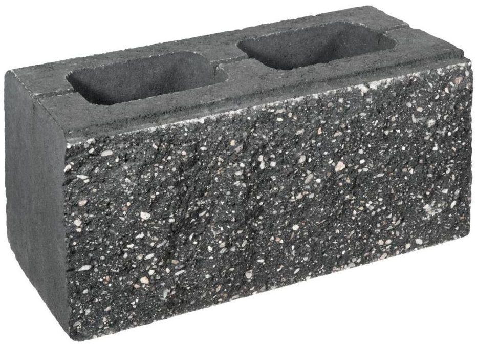 Pustak ścienno-cokołowy 39 x 20 x 19 cm betonowy dwustronnie łupany SKAŁA LUBUSKA ZIEL-BRUK