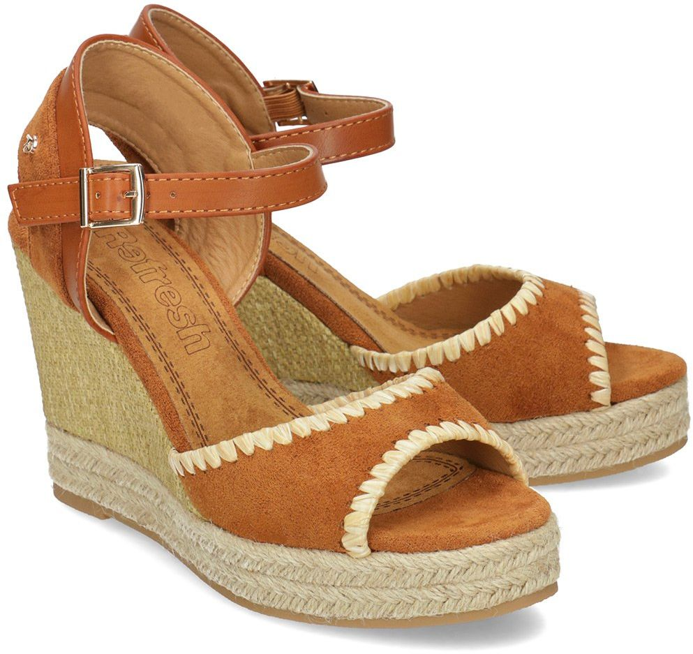 Refresh - Sandały Damskie - 69561 CAMEL - Brązowy