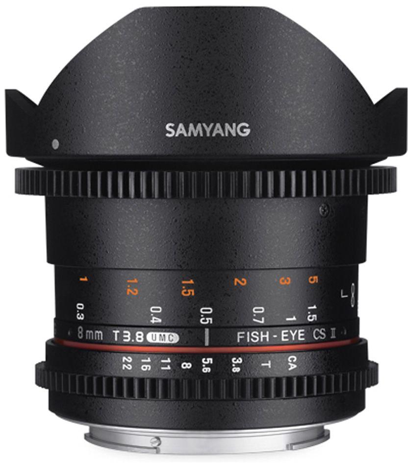 Obiektyw Samyang 8mm T3.8 VDSLR Fisheye CSII Canon