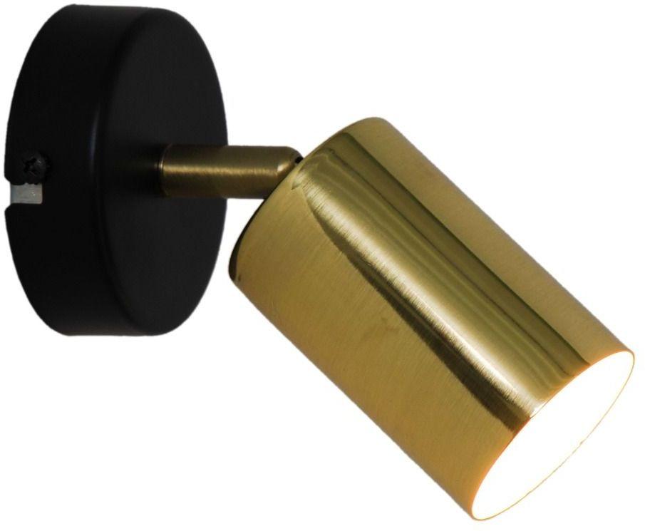 Kinkiet VILA GU13013C-1R GU10 Zuma Line SPOT loft metalowy LED czarny złoty