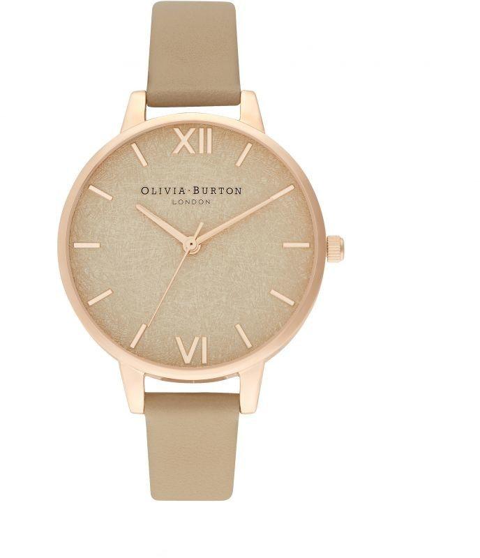 Zegarek damski Olivia Burton Woven Dial Toffee & Pale Rose Gold OB16WV01