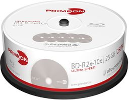 Primeon BD-R 25 GB/2-10 x Cakebox (25 Disc), Ultra-Protect-Disc Surface