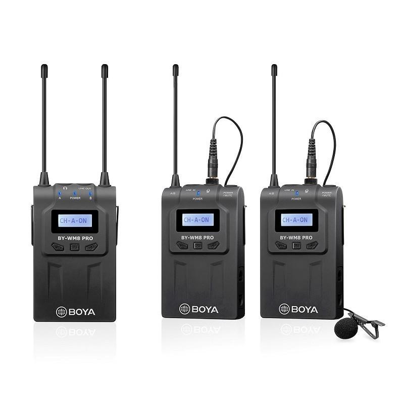 Boya BY-WM8 PRO K2 - zestaw 2x mikrofon bezprzewodowy lavalier, 1x odbiornik Boya BY-WM8 PRO K2