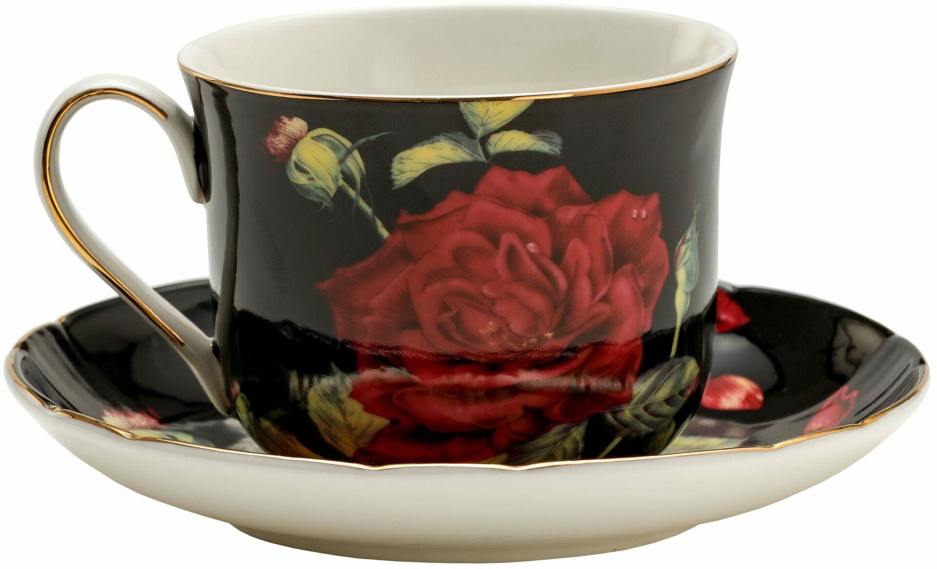 P4Y, duża filiżanka śniadaniowa RED ROSE, czerwona róża