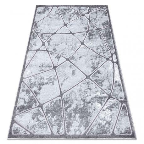 Dywan MEFE nowoczesny B401 - Strukturalny, dwa poziomy runa ciemnoszary 80x150 cm