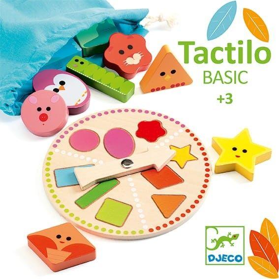 Djeco - drewniana Gra Edukacyjna lotto TACTILO BASIC DJ06214