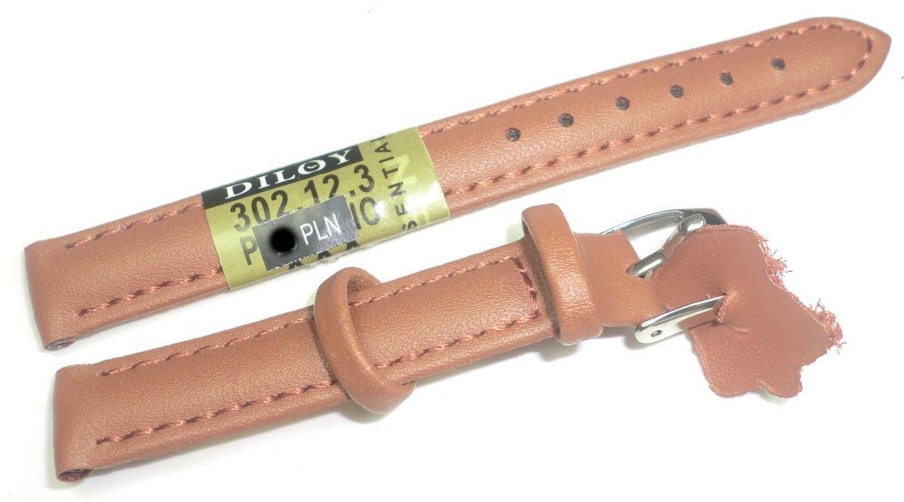 Skórzany pasek do zegarka 12 mm Diloy 302.12.3