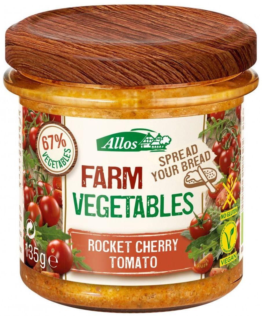 Pasta warzywna z pomidorami cherry i rukolą bezglutenowa bio - allos - 135g