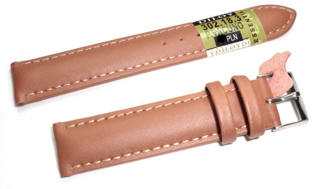 Skórzany pasek do zegarka 18 mm Diloy 302.18.3