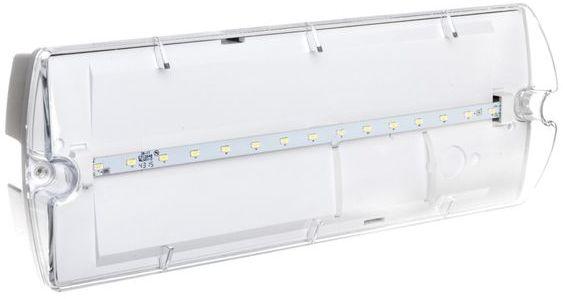 Oprawa awaryjna HELIOS IP65 ECO LED 3,2W 320lm 3m 1h jednozadaniowa AT HWM/3,2W/E/1/SE/AT/TR
