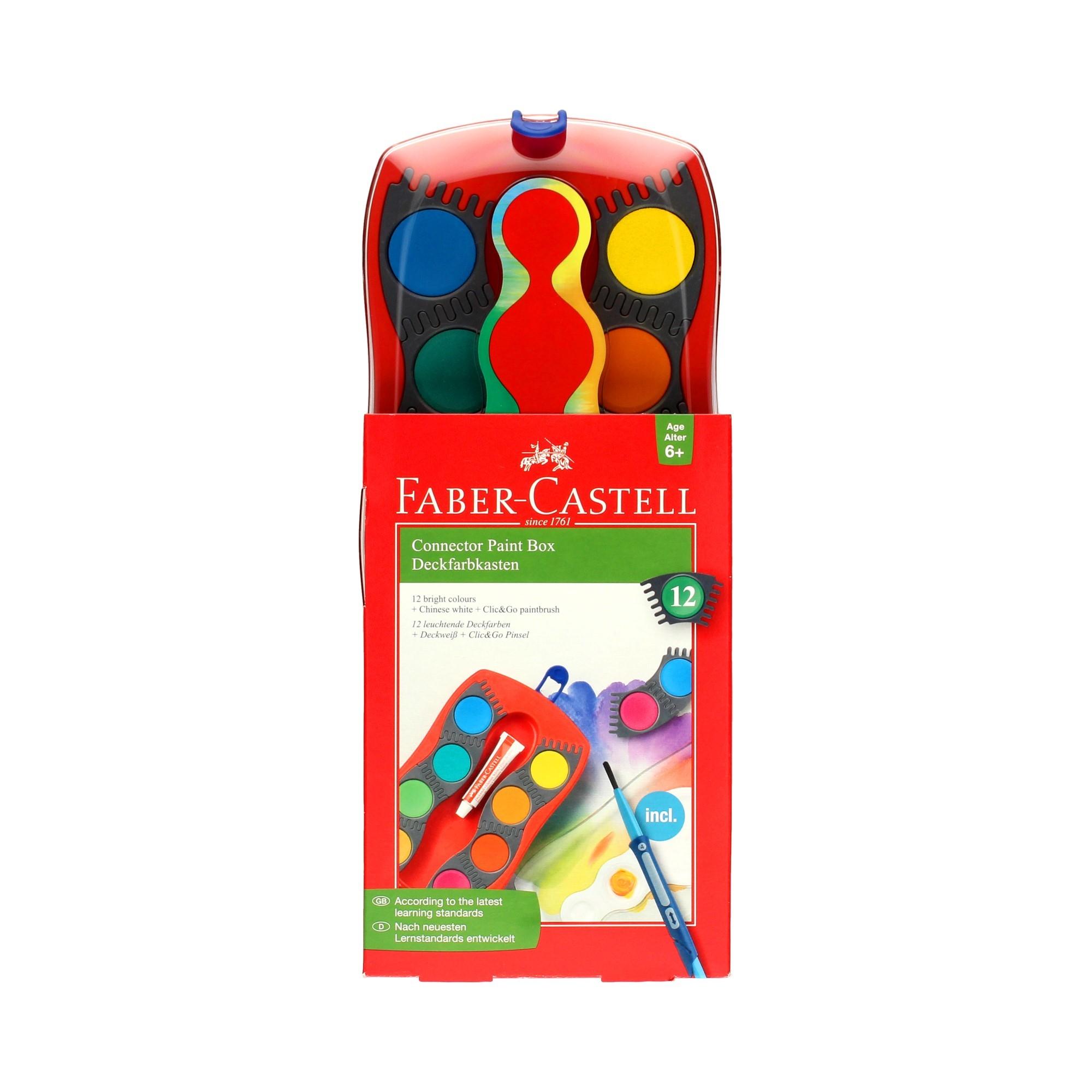 Farby akwarelowe 12kol Connector Faber Castell FC125023