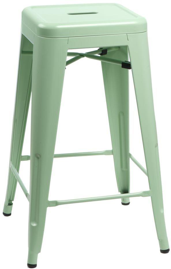 D2 Stołek barowy Paris 66 cm zielony inspirowany Tolix