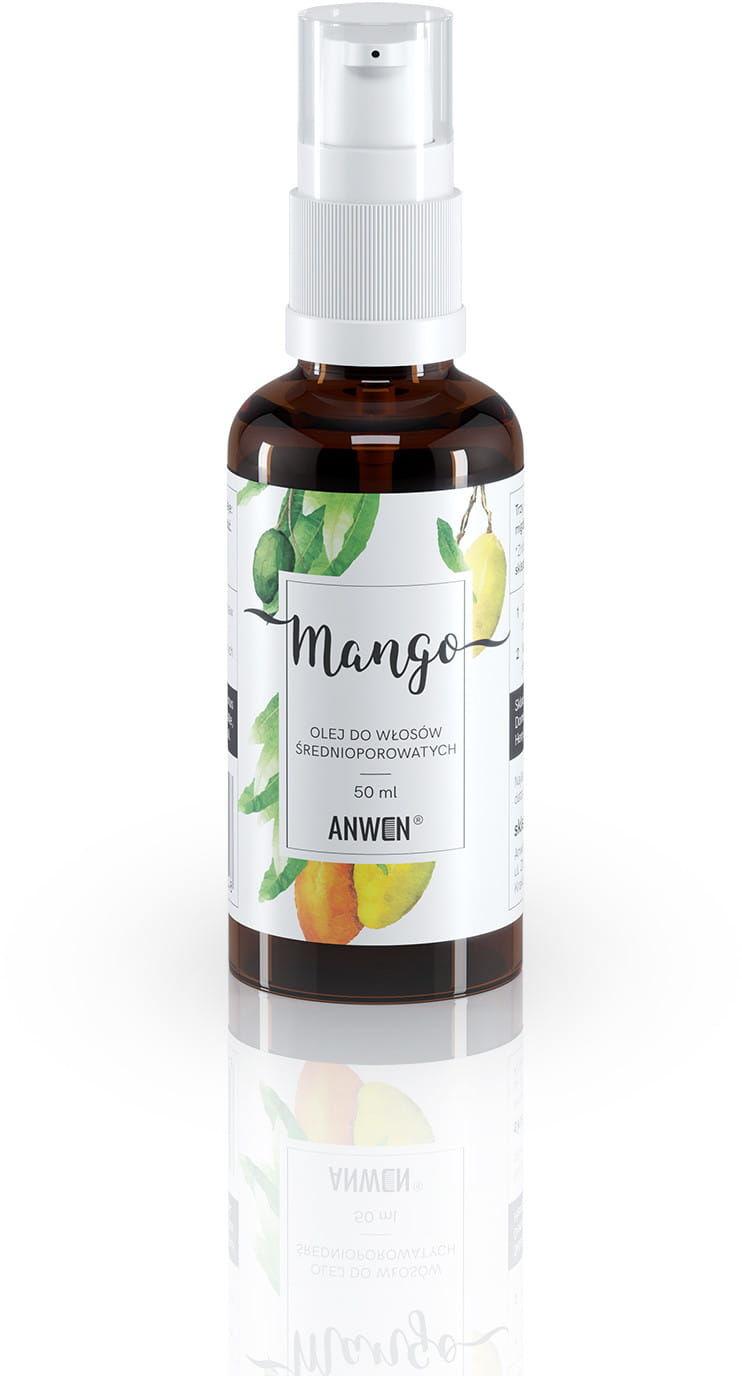 ANWEN Olej Mango do włosów średnioporowatych 50ml