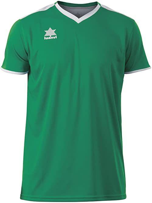Luanvi Męski T-shirt Match z krótkimi rękawami. zielony zielony 3XS