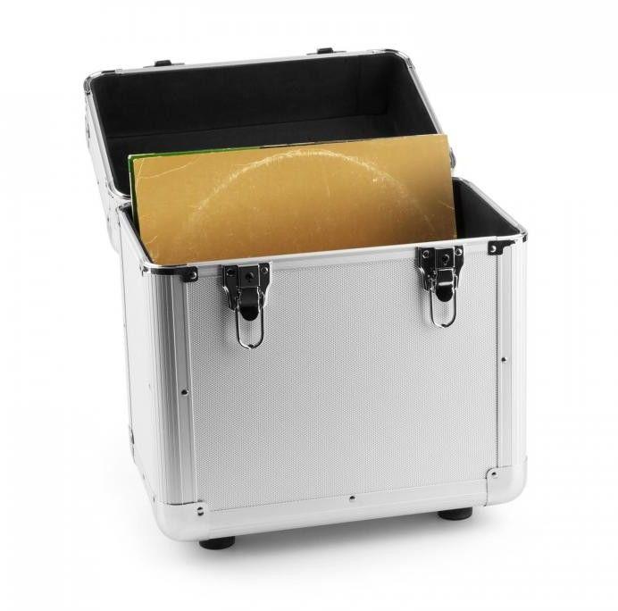 Power Dynamics RC80 Aluminiowa walizka na płyty winylowe (na 80 płyt o rozmiarze 12 cali) srebrna