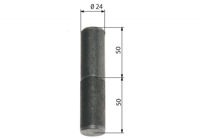 Zawiasa budowlana toczona 24/100 mm
