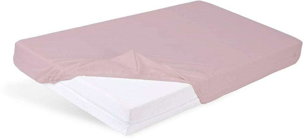Prześcieradło nieprzemakalne 70x140 z gumką Bamboo bambusowe 09 różowe jasne do łóżeczka dziecięce