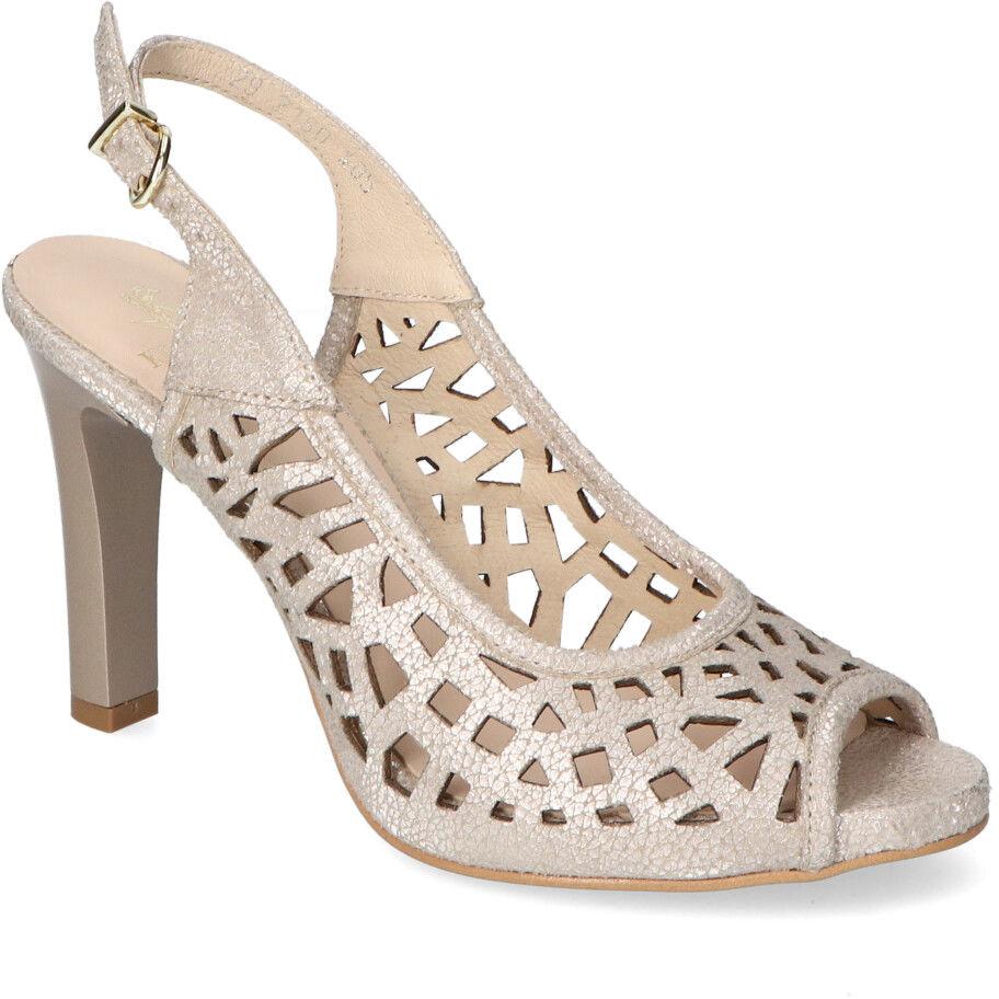 Beżowe sandały Kordel 2180 Beżowe zamsz