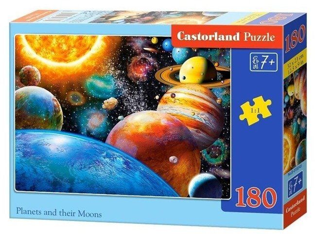 Puzzle 180 Planets and their Moons CASTOR - Castorland