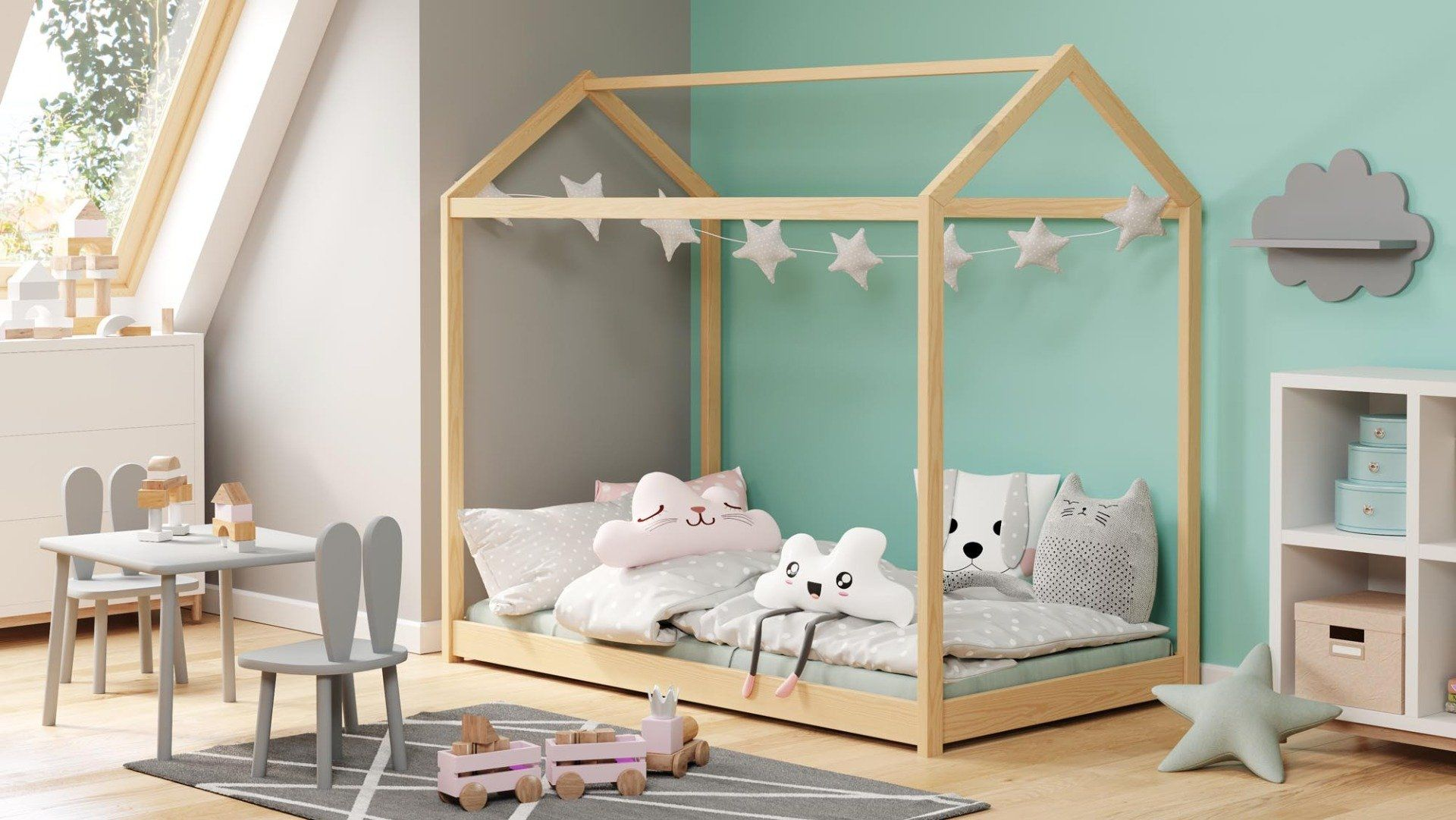 Łóżko domek YOGI 80x160 białe drewniane dla dzieci  KUP TERAZ - OTRZYMAJ RABAT