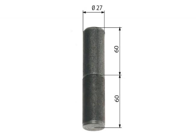 Zawiasa budowlana toczona 27/100 mm