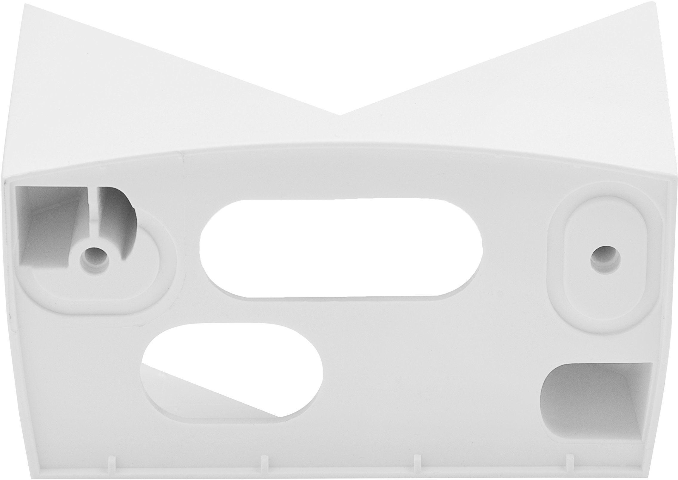 Steinel Uchwyt ścienny narożny EWH 07 biały, do czujnika ruchu na podczerwień IS 140-2, adapter do szybkiego montażu na zewnętrznych narożnikach