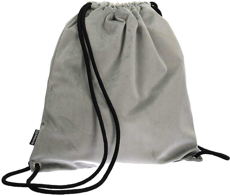 Plecak- worek Velvet, gołębi szary, 40 x 43 cm, Velvet