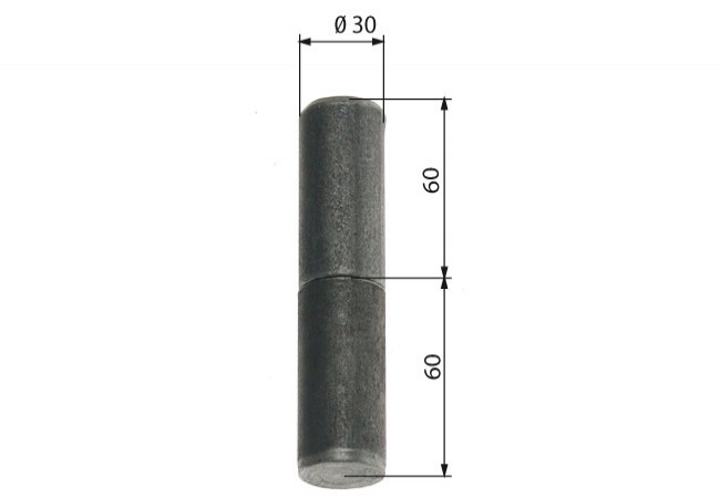 Zawiasa budowlana toczona 30/110 mm