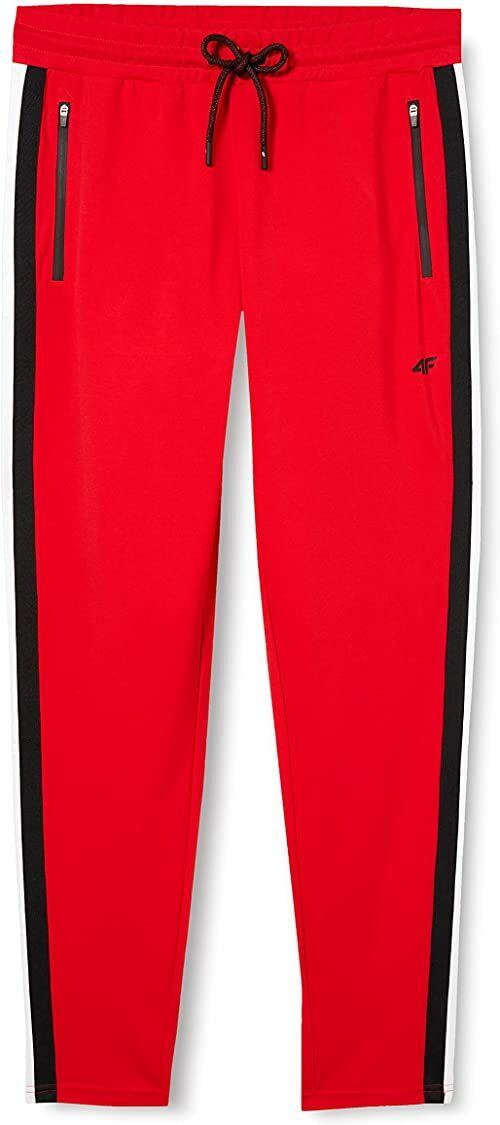 4F H4L20-SPDD002-62S Spodnie Dresowe Damskie, Czerwony