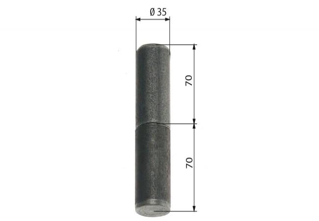 Zawiasa budowlana toczona 35/120 mm