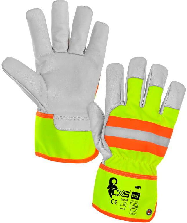 Rękawice robocze HIVI CXS żółto-pom