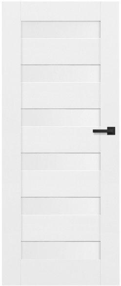 Drzwi bezprzylgowe pełne Trame 70 lewe białe