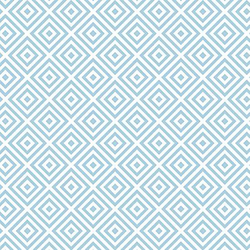 Venilia Folia samoprzylepna Celia Niebieski motyw geometryczny, wzór retro, folia dekoracyjna, folia do mebli, tapeta, folia samoprzylepna, PCW, bez ftalanów, 67,5 cm x 1,5 m, grubość 0,095 mm, 54770