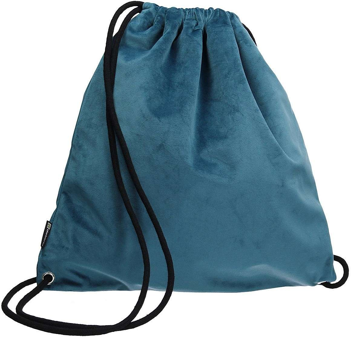 Plecak- worek Velvet, pruski błękit, 40 x 43 cm, Velvet