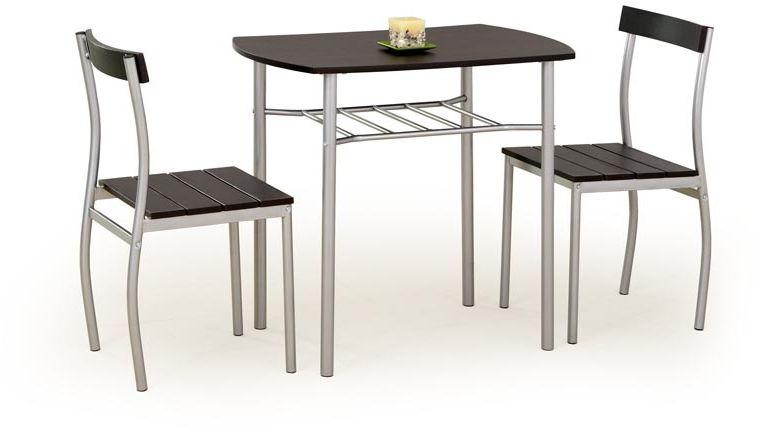 Zestaw stół + 2 krzesła MATI wenge