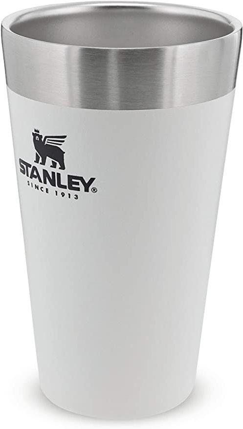 Stanley Adventure Stacking Beer Pint 0.47L / 16OZ Polar White  Utrzymuje zimne piwo przez 4 godziny - Kufel do piwa ze Stali Nierdzewnej - Podwójne ścianki z izolacją próżniową - Do Mycia w Zmywarce