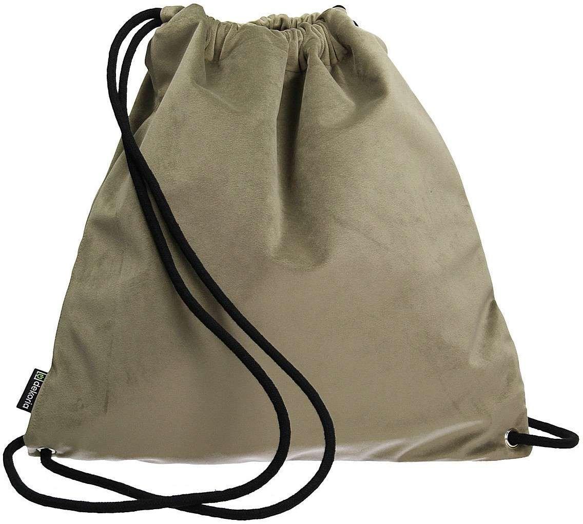 Plecak- worek Velvet, srebrzysty beż, 40 x 43 cm, Velvet