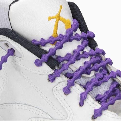XTENEX Elastyczne sznurówki sportowe fioletowe