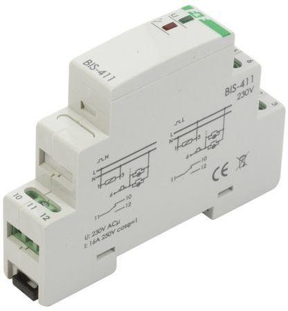 Przekaźnik impulsowy włącz-wyłącz 16A 230V AC 1P BIS-411